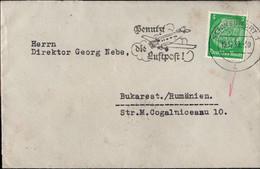 ! 1939 Auslandsdrucksache 5 Pfg. Hindenburg Aus Schweinfurt Nach Bukarest, Rumänien, OKW Zensur, Censor - Lettres & Documents