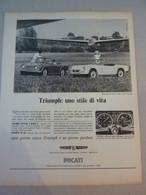 # ADVERTISING PUBBLICITA' TRIUMPH SPITFIRE / TR4 - 1966 - Pubblicitari