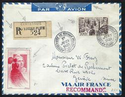 FRANCE Poste Aérienne 1949: LSC Rec. De Paris Pour Genève Avec Vignette - 1927-1959 Lettres & Documents