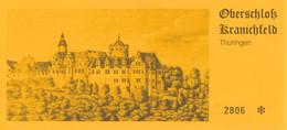 BRD Kranichfeld Thüringen Eintrittskarte Oberschloss Kranichfeld - Tickets - Vouchers