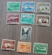 Rare : PEROU - Lot De 10 Timbres Neufs ** POSTE AERIENNE Surchargés MUESTRA ( SPECIMEN ) ! - Perú