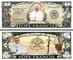 !!! USA - FANTASY NOTE -  POPE  FRANCIS  - UNC - Other
