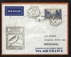 FRANCE Poste Aérienne 1946: LSC Rec. De Corvol (Nièvre) Pour Saïgon (Indochine) - 1927-1959 Lettres & Documents