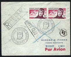 FRANCE Poste Aérienne 1955: LSC De Paris Pour Buenos Aires - 1927-1959 Lettres & Documents