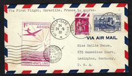 FRANCE Poste Aérienne 1939: LSC De Marseille Pour Les USA - 1927-1959 Lettres & Documents