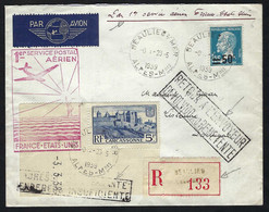 FRANCE Poste Aérienne 1923: LSC Rec. De Beaulieu-s-Mer Pour Lisbonne Et Retour - 1927-1959 Lettres & Documents