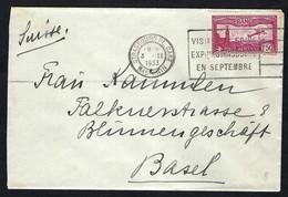 FRANCE Poste Aérienne 1933: LSC  De Strasbourg Pour Bâle - 1927-1959 Lettres & Documents