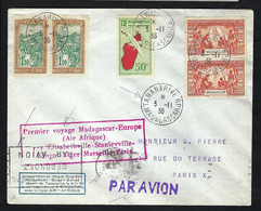 Madagascar Poste Aérienne 1936: LSC  De Tananarive Pour Paris - Non Classés