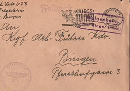! 1940 Feldpostbrief Mit  Landpoststempel Welgesheim über Bingen, Abs. KGF Arbeitskommando - Brieven En Documenten