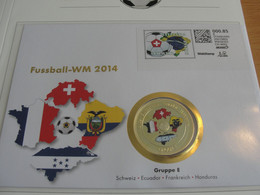 VOETBAL WK-2014, ENVELOPPE VAN HELVETIA, MET MOOIE MUNT ERIN - 2014 – Brasil