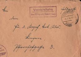 ! 1940 Feldpostbrief Mit  Landpoststempel Vendersheim über Wörrstadt, Abs. KGF Arbeitskommando N. Bingen - Brieven En Documenten