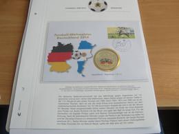 VOETBAL WK-2014, ENVELOPPE VAN HELVETIA, MET MOOIE MUNT ERIN, ZEGEL DUITSLAND - 2014 – Brasil