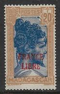 Madagascar. France Libre N° 255A* Cote 1100€. - Non Classés