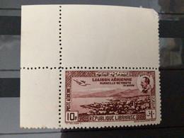 GRAND-LIBAN Timbre 10 Ans De La 1ère Liaison Aéropostale France-Liban : Vue De Beyrouth Et Portrait De M. Nogués - Unused Stamps