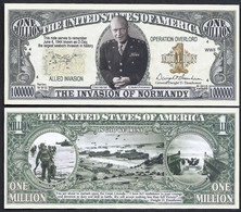 !!! USA - FANTASY NOTE -  THE  INVASION  OF  NORMANDY  - UNC - Other