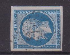 "FRANCE : PC 3776 . "" BOU MEDFA "" . ( ALGER ) . N° 14 . SIGNE BRUN . TB . TRES RARE . - 1849-1876: Classic Period"