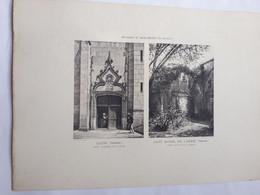 VENDEE - LUCON   SAINT MICHEL EN L'HERM -  Photo Gravure De 1890  Env De Jules Robuchon . Format  45x32 - Documentos Históricos