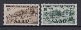 Saarland 262-263 Freimarken 8+ 5 Fr/10+ 7 Fr Postfrisch - Sin Clasificación