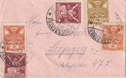 TCHECOSLOVAQUIE 1921 LETTRE DE FRANZENBAD - Briefe U. Dokumente
