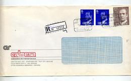 Lettre Recommandée Ciudadela Sur Roi - Marcophilie - EMA (Empreintes Machines)