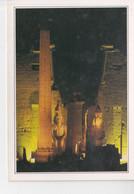 EGYPTE, LUXOR, Temple De Luxor, Colonne Et Obélisque De Ramses II, Statues, Photo De Nuit, Ed. Edito Services 1990 Envir - Ohne Zuordnung