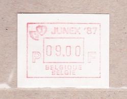 1987  ATM66** Junex '87.Automaatzegel. - Postage Labels