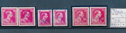 BELGIUM -10% COB 724 A/c X2 MNH - 1946 -10%
