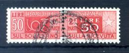 1946-51 REP. IT. 50lire PACCHI POSTALI N.76 USATO - Postal Parcels