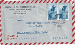 TURQUIE 1949 PLI AERIEN DE ISTANBUL - Briefe U. Dokumente