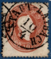 Stadt Laibach Austria 90% Cancel On 1850 10 Kr 2102.2058 Österreich, Llubljana Slovenia - Used Stamps