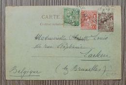 MONACO 1923 - Entier Postal Prince Albert 1er à 15c Brun  Pour La BELGIQUE Avec Timbres 22 Et 23  En Complément ! - Cartas