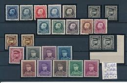 """BELGIUM MONTENEZ CASQUETTE KING ALBERT Ier COB 187 + 211/19 """"1F 214B 11 * 11 1/2"""" 317/24 MNH POSTFRIS SANS CHARNIERE - 1921-1925 Petit Montenez"""