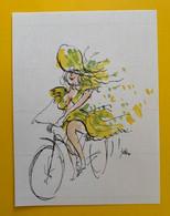 18387 - Jolie Cycliste En Robe Légère - Onvolledig