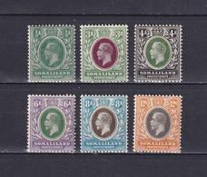 SOMALILAND 1912/19, SG# 60 - 68, Part Set, Personalities, MNH - Somaliland (Herrschaft ...-1959)