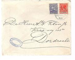 Scarce Franking 9 Cents Veth + 1 Cent P.J.M. Schuijt Leeuwen (1907-1927 Burgemeester Van De Gemeente Wamel) (FA-65) - Covers & Documents