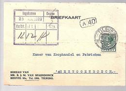 1929 Spaenendonck Heuvel 95c Tilburg > K.v.K  (FA-41) - Covers & Documents
