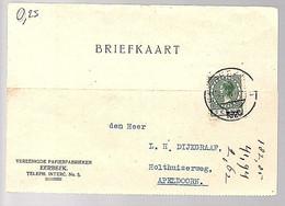 1926 Verenigde Papierfabrieken ERRBEEK TELEPHINE NO. 5! > Dijkgraaf Holthuizerweg Apeldoorn (FA-40) - Covers & Documents