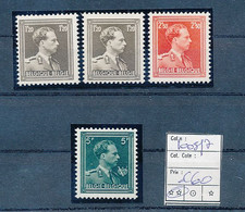BELGIUM COB 1005/7 MNH POSTFRIS SANS CHARNIERES - 1936-1957 Col Ouvert