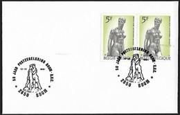 1991 - BELGIË/BELGIQUE/BELGIEN - Cover + Y&T 1772 [Charles Despiau] + BOOM [2850] - Lettres & Documents