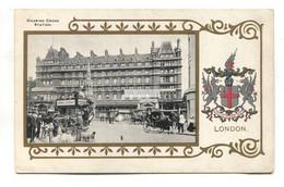 Charing Cross Railway Station, London - Old Ja Ja Heraldic Postcard - Other