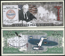 !!! USA - FANTASY NOTE - REMEMBER  PEARL  HARBOUR  WITH  USS ARIZONA MEMORIAL - UNC - Other