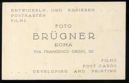 Biglietto Da Visita Foto Brügner Via Francesco Crispi 6x9cm - Cartes De Visite