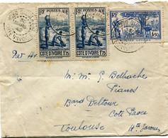 COTE D'IVOIRE LETTRE PAR AVIOn DEPART BOBO DIOULASSO 30 MARS 42 COTE D'IVOIRE POUR LA FRANCE - Briefe U. Dokumente