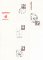 1976 - AUSTRIA - AUTRICHE - OLYMPIC GAMES INNSBRUCK - 4 CARDS - 1971-80 Cartas