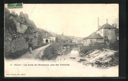 CPA Semur, Les Bords De L`Armancon, Près Des Tanneries - Semur