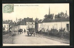 CPA Auxonne, Entree De La Ville Par La Route De Dole - Auxonne