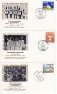 1976 - CANADA - MONTREAL OLYMPICS - WINNERS - ROWING, FENCING, SHOOTING, EQUESTRIAN SP., ATHLETICS - Cartas