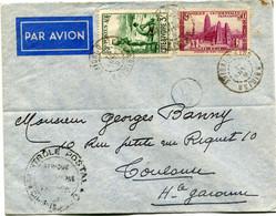 COTE D'IVOIRE LETTRE PAR AVION CENSUREE DEPART ABIDJAN 8 JANV 41 COTE D'IVOIRE POUR LA FRANCE - Briefe U. Dokumente