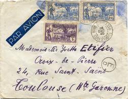 COTE D'IVOIRE LETTRE PAR AVION CENSUREE DEPART BOBO DIOULASSO 26 DEC 40 COTE D'IVOIRE POUR LA FRANCE - Briefe U. Dokumente