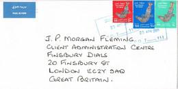 39466. Carta Aerea OMAN (muscate) 2009 To London. Al Khanjar A Suri. Tradicional Artesania Cuchillo - Oman